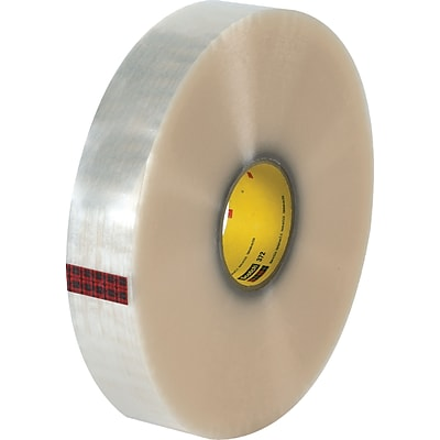 3M #372 Hot Melt Packing Tape, 2x1000 yds., Clear, 6/Case