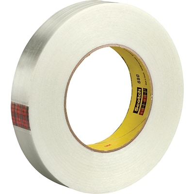3M™ 880 Strapping Tape, 1 x 60 yds., Clear, 6/Case