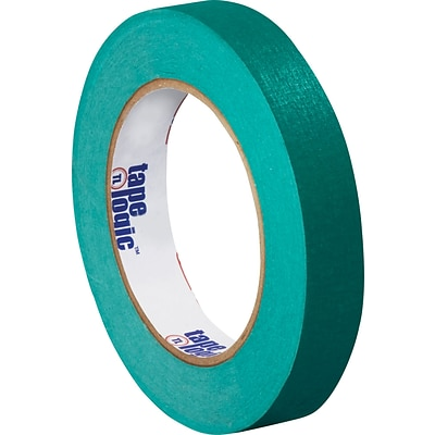 InterTape™ Industrial Masking Tape, Dark Green, 3/4 x 60 yds, 48 Rolls
