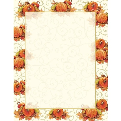 Great Papers® Holiday Stationery Pumpkin Swirl , 80/Count