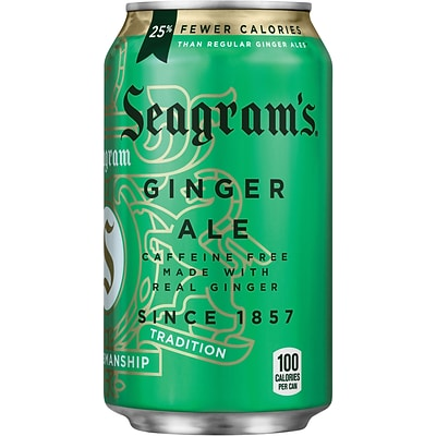 Seagrams Ginger Ale, Fridge Pack, 12 oz. cans, 24/Pack