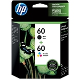 HP 60 Black/60 Color Ink Cartridge, N9H63FN, Multi-pack (2 cart per pack)