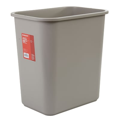 Brighton Professional™ Rectangular Wastebaskets; Beige, 7-Gallon