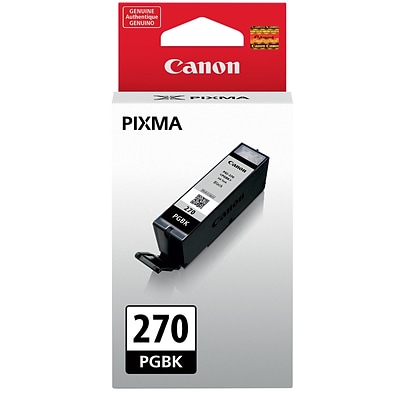 Canon PGI-270 Pigment Black Standard Yield Ink Cartridge (0373C001)