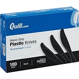 Quill Brand® Heavy-Duty Plastic Cutlery; Knives, Black, 100/Box