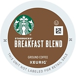 Starbucks® Breakfast Blend Coffee, Keurig® K-Cup® Pods, Medium Roast, 24/Box (9736)