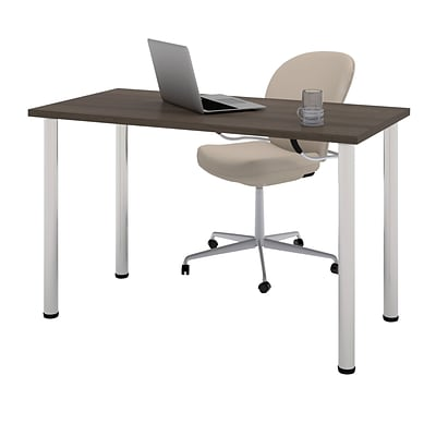 Bestar® 24x48 Table with Round Metal Legs; Antigua