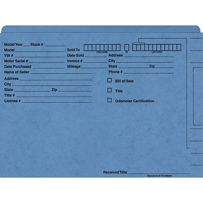 Quill Brand® Auto Sales Jacket; Single Ply, Blue, 100/Box