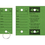 Quill Brand® Auto Service Key Tags; Green, 250/Bx