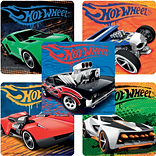 "SmileMakers® Classic Hot Wheels™ Stickers; 2-1/2""H x 2-1/2""W, 100/Box"