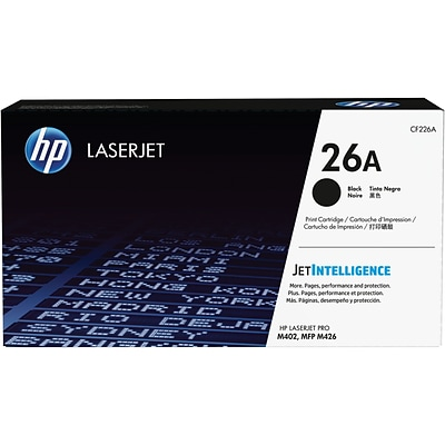 HP 26A Black Toner Cartridge, Standard (CF226A)