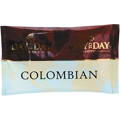 Day to Day® Coffee;  Colombian Blend, 1.5-oz. Fraction Pack,  42/Carton