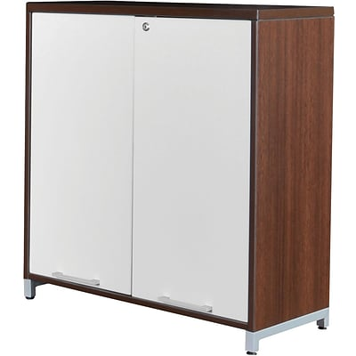 Regency® OneDesk® Collection in Java Finish, 2-Shelf Tower with Doors