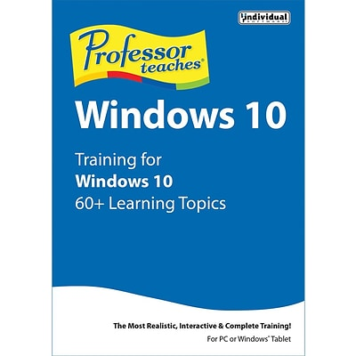 Individual Software Professor Teaches Windows 10 for Windows (1 User) [Download]