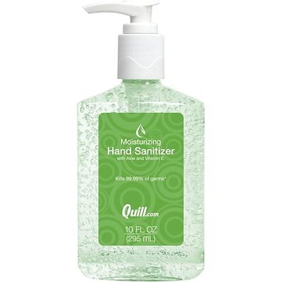 qb aloe hand sanitizer 10 oz quill com