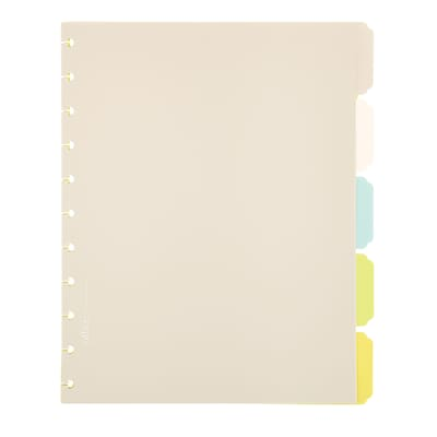 Office by Martha Stewart™ Discbound™ Notebook Dividers, Letter Size, 5 Tab, Multi-Colored (44471)