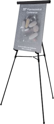 3-Leg Lightweight Telescoping Display Easel, Black