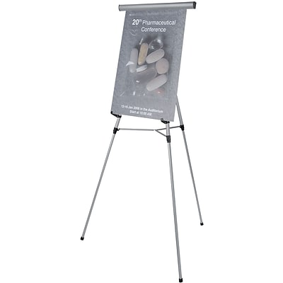 3-Leg Lightweight Telescoping Display Easel, Silver