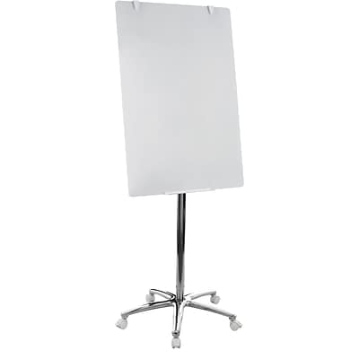 MasterVision® Business Non Magnetic Easel, Silver, 74H