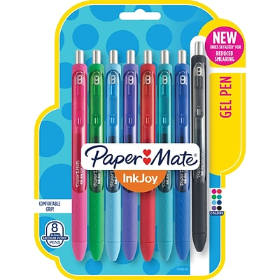 Paper Mate® InkJoy® Gel Pens, Medium Point, Assorted, 8/Pack (1958946)