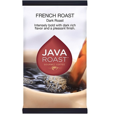 Java Roast Gourmet French Roast Ground Coffee with Bonus Filters, Dark Roast, 24/Carton (BHS90366)