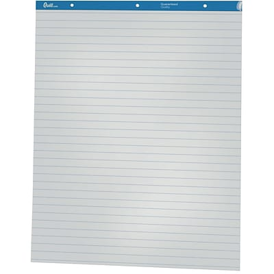 Quill Brand® Easel Pad Flip Chart, Wide Ruled, 27 x 34, 50 Sheets/Pad, 2 Pads/Box (720444)