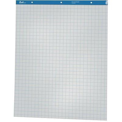 Quill Brand® Easel Pad Flip Chart, Grid, 27 x 34, 50 Sheets/Pad, 2 Pads/Box (720446)