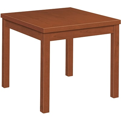 HON® Laminate Occasional Table In Cognac; 24x24 Side Table