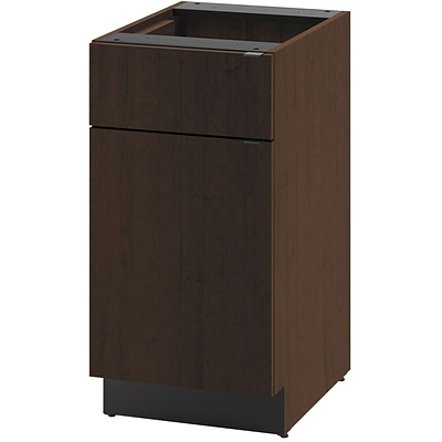 HON® Hospitality Series in Mocha; Door/Drawer Single Base Cabinet