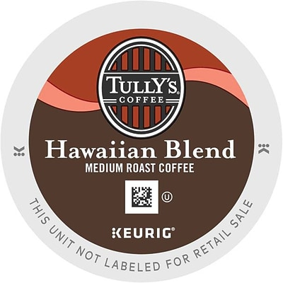 Tullys® Hawaiian Blend Coffee, Keurig® K-Cup® Pods, Medium Roast, 24/Box (6606)