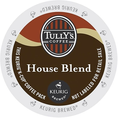 Tullys® House Blend Coffee, Keurig® K-Cup® Pods, Medium Roast, 96/Carton (700287)