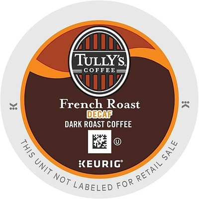 Keurig® K-Cup® Tullys® French Roast Extra Bold Decaf Coffee, Decaffeinated , 24/Pack