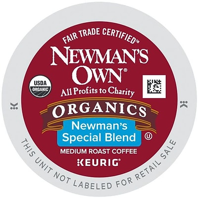 Newmans Own® Organics Special Blend Coffee, Keurig® K-Cup® Pods, Medium Roast, 24/Box (4050)