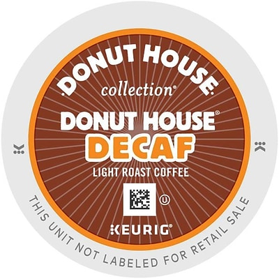 Donut House® Decaf Coffee, Keurig® K-Cup® Pods, Light Roast, Decaffeinated, 24/Box (GMT7534)