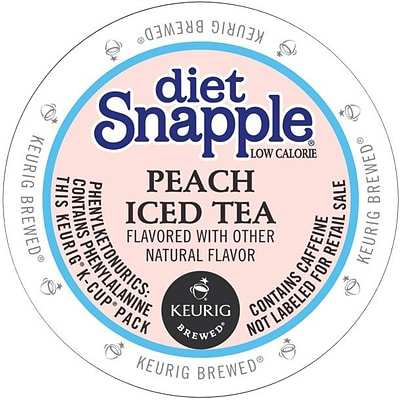 Snapple® Diet Peach Iced Tea, 22/Box