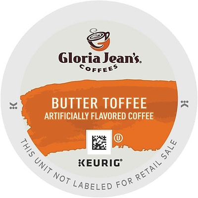 Gloria Jeans® Butter Toffee Coffee, Keurig® K-Cup® Pods, Medium Roast, 24/Box (KCC60051012)