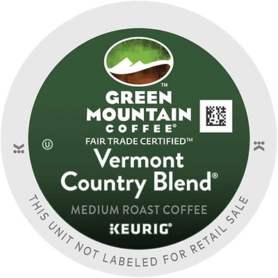 Green Mountain® Vermont Country Blend Coffee, Keurig® K-Cup® Pods, Medium Roast, 24/Box (4028)