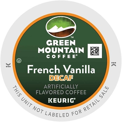 Green Mountain Coffee® K-Cup® Pods, French Vanilla Decaf., 24/Box