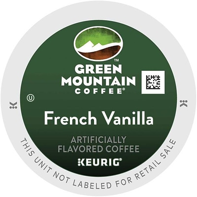 Green Mountain® French Vanilla Coffee, Keurig® K-Cup® Pods, Light Roast, 96/Carton (GMT6732CT)