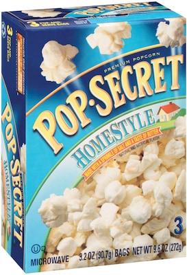 Pop Secret Microwave Popcorn, Homestyle, 3.5 oz.