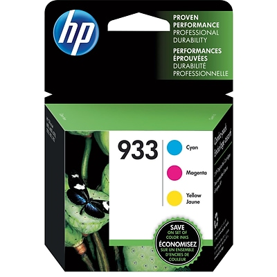 HP 933 CMY Ink Cartridge Combo Multi-pack (3 cart per pack)
