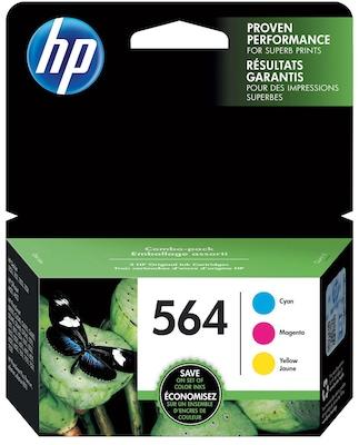 HP 564 Cyan, Magenta & Yellow Original Ink Cartridges, 3 pack (N9H57FN) | Quill