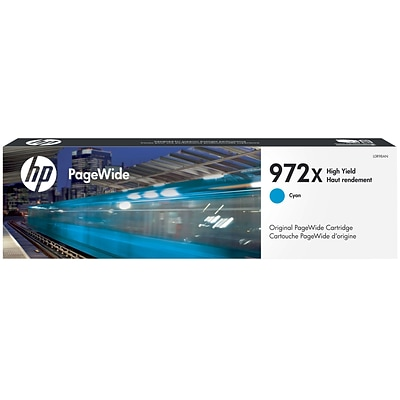 HP 972X Cyan PageWide Ink Cartridge (L0R98AN), High Yield