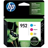 HP 952 (N9K27AN) CMY Ink Cartridges, Multi-pack (3 cart per pack)