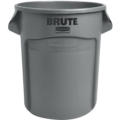 Rubbermaid Brute Container, Gray, 32 gal.