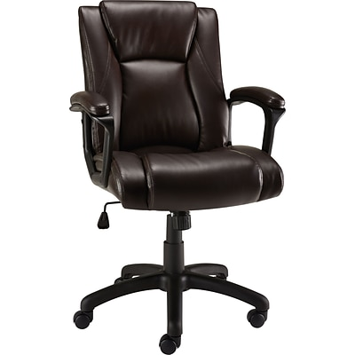 Quill Brand® Bristone Luxura Managers Chair, Brown