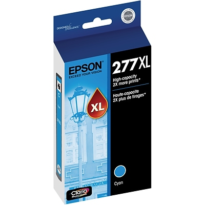 Epson 277XL Cyan Ink Cartridge, High Yield (T277XL220-S)