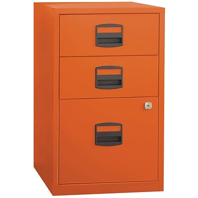Bisley 3 Drawer Vertical File Orange Letter 17w File3 Or
