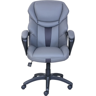 Dormeo Espo Octaspring Faux Leather Managers Office Chair, Fixed Arms, Gray (47055)