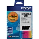 Brother Genuine LC20E3PKS Cyan, Magenta, Yellow Super High Yield Original Ink Cartridges Multi-pack